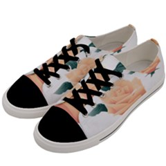 Rose Flower Nature Floral Summer Men s Low Top Canvas Sneakers by Sapixe