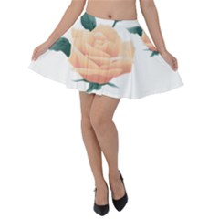 Rose Flower Nature Floral Summer Velvet Skater Skirt by Sapixe