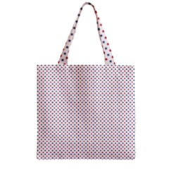 Usa Flag Red And Flag Blue Stars Zipper Grocery Tote Bag