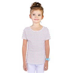 Usa Flag Red And Flag Blue Stars Kids  One Piece Tee by PodArtist