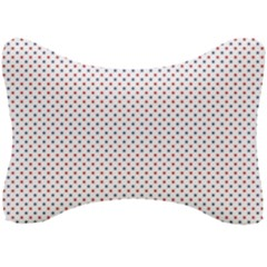 Usa Flag Red And Flag Blue Stars Seat Head Rest Cushion by PodArtist
