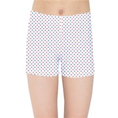 Usa Flag Red And Flag Blue Stars Kids Sports Shorts