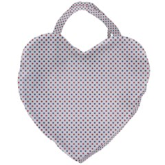 Usa Flag Red And Flag Blue Stars Giant Heart Shaped Tote