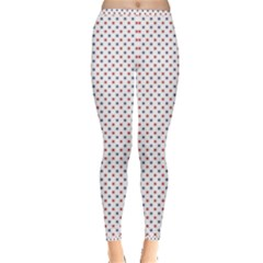 Usa Flag Red And Flag Blue Stars Inside Out Leggings