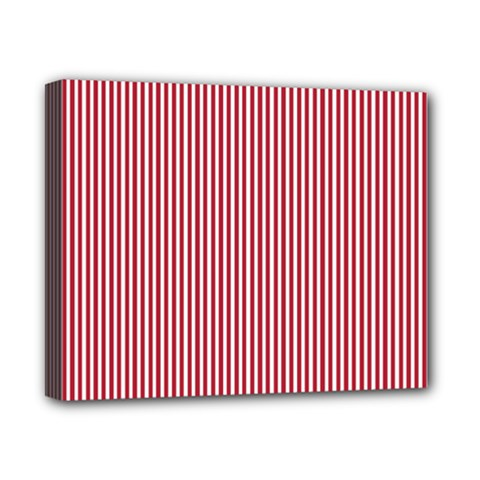 Usa Flag Red And White Stripes Canvas 10  X 8  by PodArtist