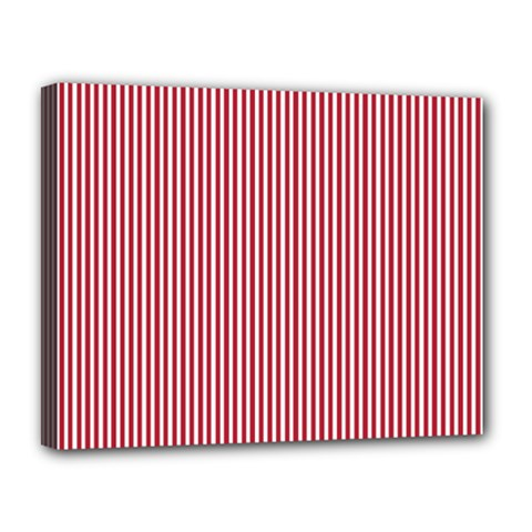 Usa Flag Red And White Stripes Canvas 14  X 11  by PodArtist