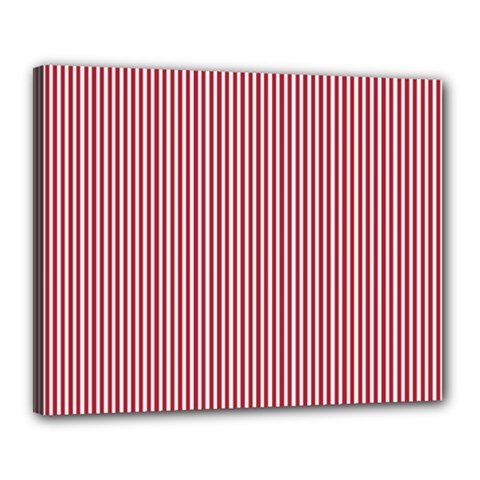 Usa Flag Red And White Stripes Canvas 20  X 16  by PodArtist