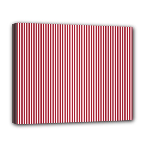 Usa Flag Red And White Stripes Deluxe Canvas 20  X 16   by PodArtist