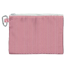 Usa Flag Red And White Stripes Canvas Cosmetic Bag (xl) by PodArtist
