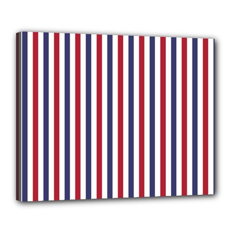 Usa Flag Red White And Flag Blue Wide Stripes Canvas 20  X 16  by PodArtist