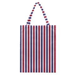 Usa Flag Red White And Flag Blue Wide Stripes Classic Tote Bag by PodArtist