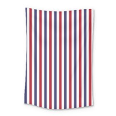 Usa Flag Red White And Flag Blue Wide Stripes Small Tapestry by PodArtist