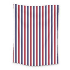 Usa Flag Red White And Flag Blue Wide Stripes Medium Tapestry