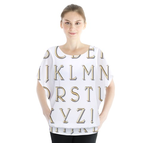 Letters Gold Classic Alphabet Blouse by Sapixe
