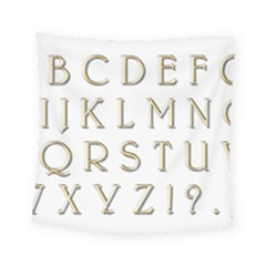 Letters Gold Classic Alphabet Square Tapestry (small) by Sapixe