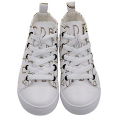 Letters Gold Classic Alphabet Kid s Mid Top Canvas Sneakers