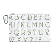 Letters Gold Classic Alphabet Canvas Cosmetic Bag (large) by Sapixe