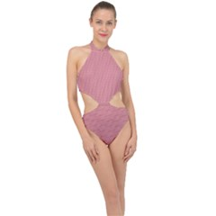 72244985 Halter Side Cut Swimsuit