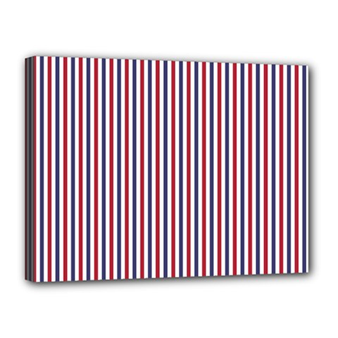 Usa Flag Red And Flag Blue Narrow Thin Stripes  Canvas 16  X 12