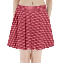 Usa Flag White Stars On Flag Red Pleated Mini Skirt by PodArtist