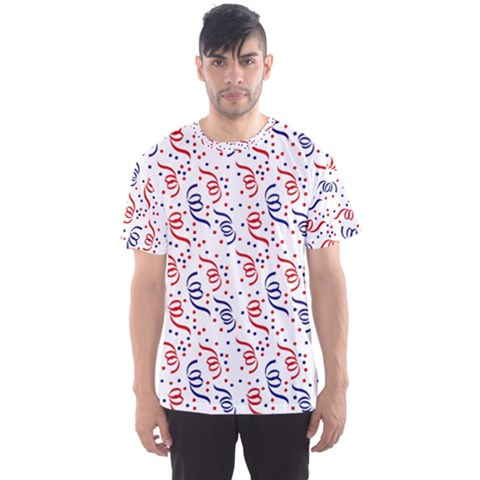 Red White And Blue Usa/uk/france Colored Party Streamers Men s Sports Mesh Tee by PodArtist