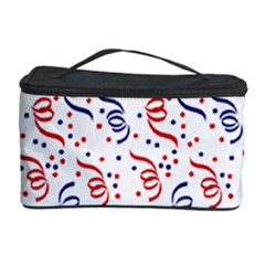Red White And Blue Usa/uk/france Colored Party Streamers Cosmetic Storage Case by PodArtist