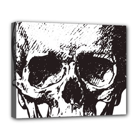 Skull Vintage Old Horror Macabre Deluxe Canvas 20  X 16   by Sapixe