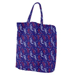 Red White And Blue Usa/uk/france Colored Party Streamers On Blue Giant Grocery Zipper Tote by PodArtist