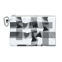 Geometry Square Black And White Canvas Cosmetic Bag (large) by Sapixe
