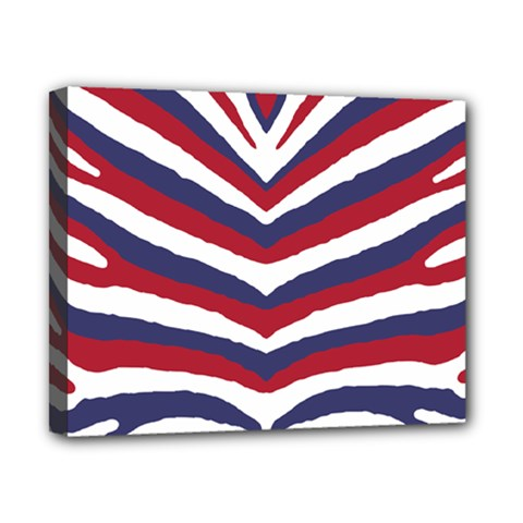 Us United States Red White And Blue American Zebra Strip Canvas 10  X 8  by PodArtist
