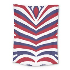 Us United States Red White And Blue American Zebra Strip Medium Tapestry by PodArtist