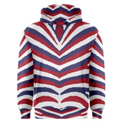Us United States Red White And Blue American Zebra Strip Men s Overhead Hoodie by PodArtist