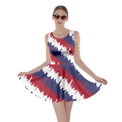 Ny Usa Candy Cane Skyline In Red White & Blue Skater Dress by PodArtist