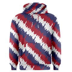 Ny Usa Candy Cane Skyline In Red White & Blue Men s Pullover Hoodie by PodArtist
