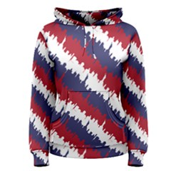 Ny Usa Candy Cane Skyline In Red White & Blue Women s Pullover Hoodie by PodArtist