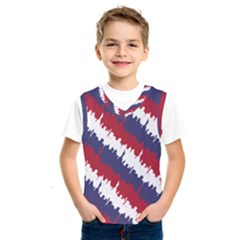 Ny Usa Candy Cane Skyline In Red White & Blue Kids  Sportswear by PodArtist