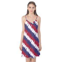 Ny Usa Candy Cane Skyline In Red White & Blue Camis Nightgown by PodArtist