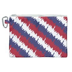 Ny Usa Candy Cane Skyline In Red White & Blue Canvas Cosmetic Bag (xl) by PodArtist