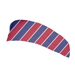 Large Red White And Blue Usa Memorial Day Holiday Pinstripe Stretchable Headband