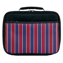 Large Red White And Blue Usa Memorial Day Holiday Pinstripe Lunch Bag