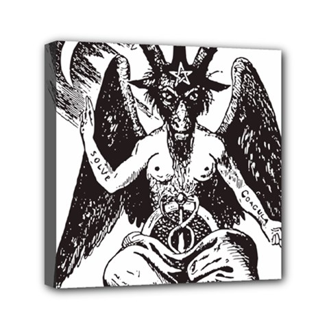 Devil Baphomet Occultism Mini Canvas 6  X 6  by Sapixe