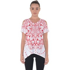 Mandala Pretty Design Pattern Cut Out Side Drop Tee