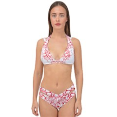 Mandala Pretty Design Pattern Double Strap Halter Bikini Set by Sapixe