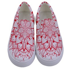 Mandala Pretty Design Pattern Kids  Canvas Slip Ons