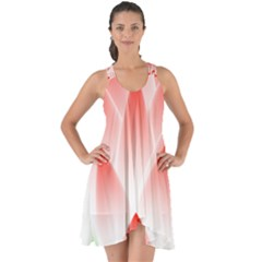 Lotus Flower Blossom Abstract Show Some Back Chiffon Dress