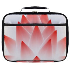 Lotus Flower Blossom Abstract Full Print Lunch Bag by Sapixe