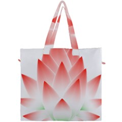 Lotus Flower Blossom Abstract Canvas Travel Bag