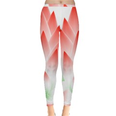 Lotus Flower Blossom Abstract Inside Out Leggings by Sapixe