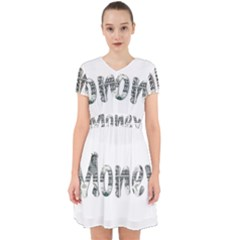 Word Money Million Dollar Adorable In Chiffon Dress