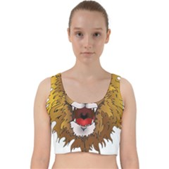 Lion Animal Roar Lion S Mane Comic Velvet Racer Back Crop Top